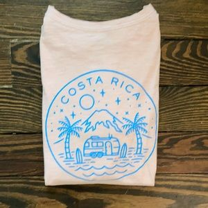 Costa Rica Pink & Blue Short Sleeved T Shirt 🖤
